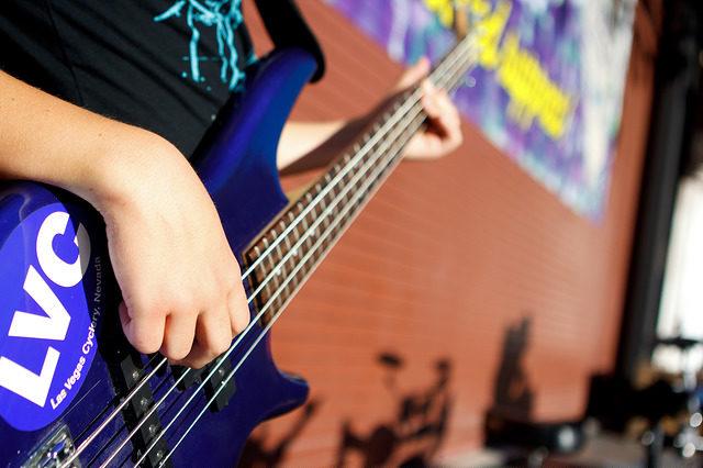 close up of electric guitar